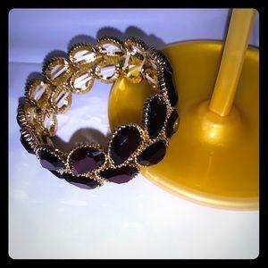 FRANCESCAS COLLECTIONS Maroon Faux Gold Bracelet